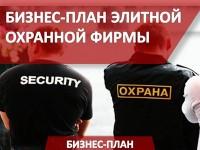 Бизнес-план элитной охранной фирмы